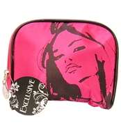 Exclusive Pink Glamour Model Design Mini Makeup Bag