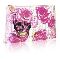 Exclusive Rose Skull Design Cosmetic Bag/Purse