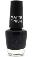 W7 Matte Finish Nail Polish - Matte Black