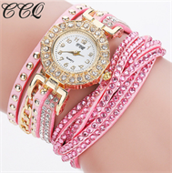 Baby Pink Diamante Bracelet Design Stud Watch