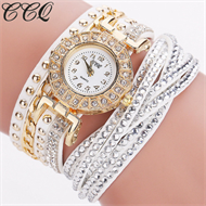 White Diamante Bracelet Design Stud Watch
