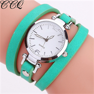 Turquoise Green Leather Bracelet Design Strap Watch
