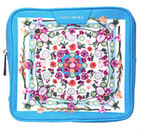Estee Lauder Blue Floral Design Makeup Bag