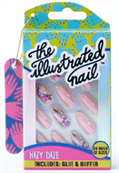 Illustrated Nails 24x False Nail Gift Set with Buffer and Glue