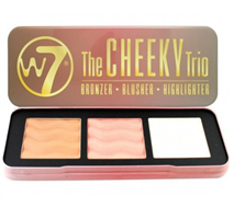 W7 The Cheeky Trio Bronzer Blusher & Highlighter Palette