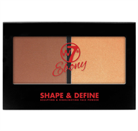 W7 Ebony Shape & Define Sculpting & Highlighting Palette - Medium/Deep