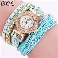 Turquoise Diamante Bracelet Design Stud Watch