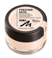Manhattan Fresher Skin Breathable Foundation - Soft Porcelain