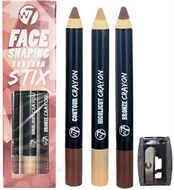 W7 Face Shaping Contour Stix Trio & Sharpener Set
