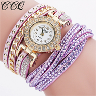 Lilac Diamante Bracelet Design Stud Watch