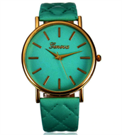 Turquoise & Gold Ladies Strap Watch