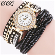 Black Diamante Bracelet Design Stud Watch