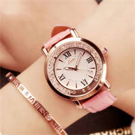 Pink Diamante Ladies Strap Watch
