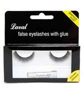 Laval False Eyelashes With Glue - Ref 617