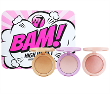 W7 Bam! High Impact Highlighter Trio Set