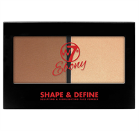W7 Ebony Shape & Define Sculpting & Highlighting Palette - Medium