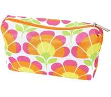Clinique Luxury Bright Pink, Orange & Yellow Floral Makeup Bag