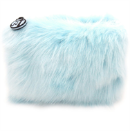 W7 Furry Cosmetic Bag/Purse - Sky Blue
